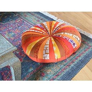 Oranje pompoen zitkussen extra groot