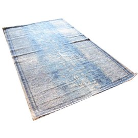 Vloerkleed blauw oosters