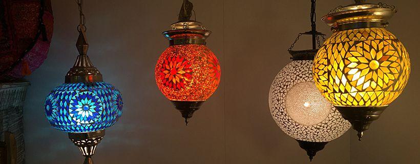 De oplossing, een mozaïek hanglamp