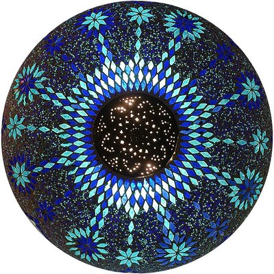 Plafonniere design blauw iron