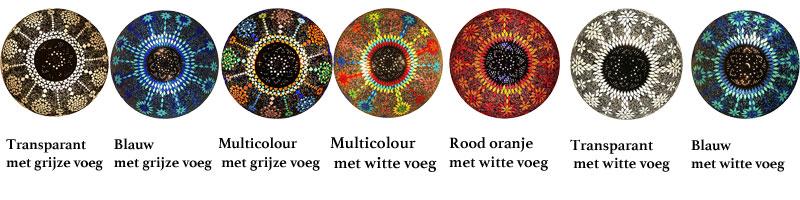 Kleuren van de design plafonnieres