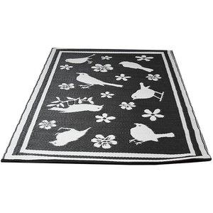Buitenkleed Merel zwart wit
