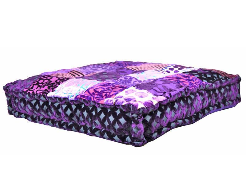 Paars loungekussen patchwork merel in wonderland - Lounge grijs en paars ...