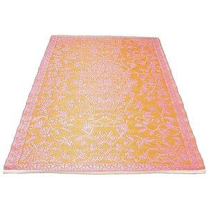 Oranje roze buitenkleed oosters design