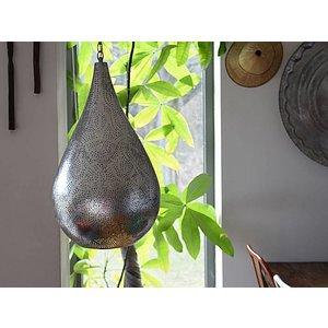 Vintage zilver filigrain hanglamp