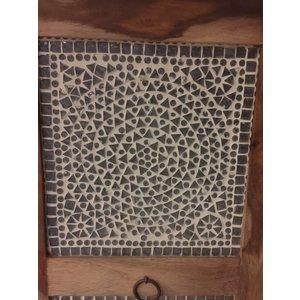 Nachtkastje mozaiek transparant