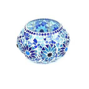 Bohemian waxinelicht blauw