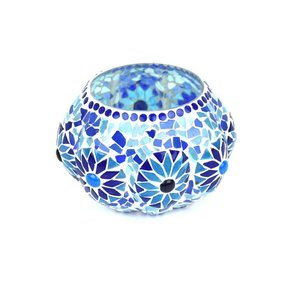 Bohemian waxinelicht blauw flower