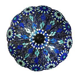 Bohemian plafonniere blauw