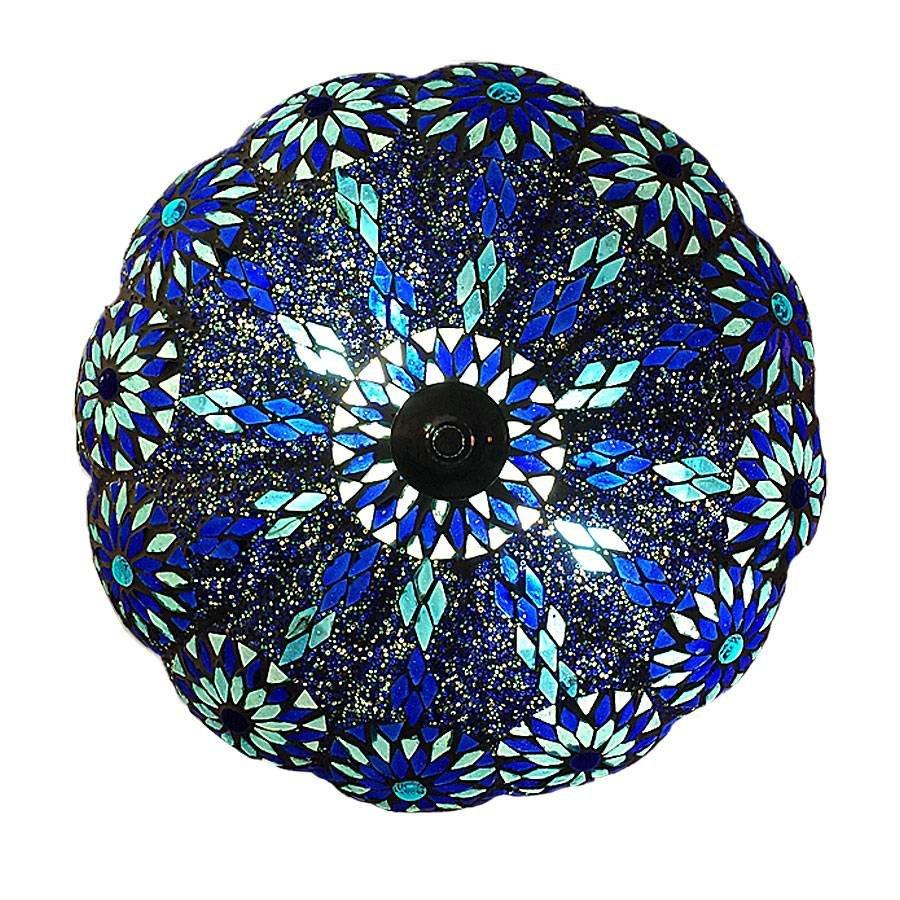 Bohemian plafonniere blauw turquoise