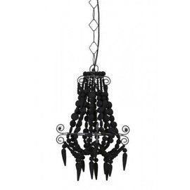 Zwarte kralen hanglamp