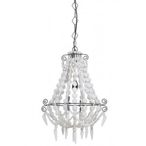 Witte ibiza style hanglamp