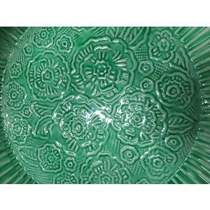 Groen oosters dienblad bloem