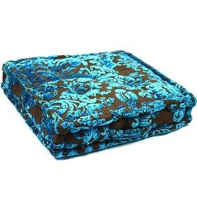 Vierkante loungekussen blauw