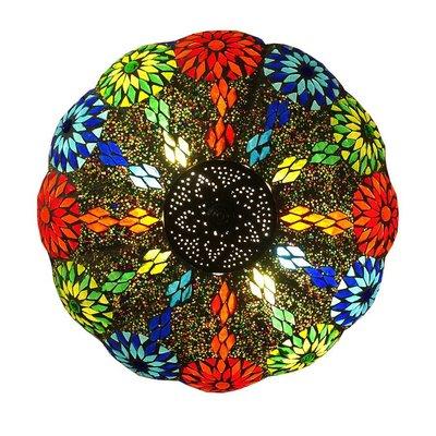 Plafonnière kleurrijke bloem met iron