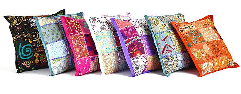 Kleurrijke kinderkamer patchwork kussentjes
