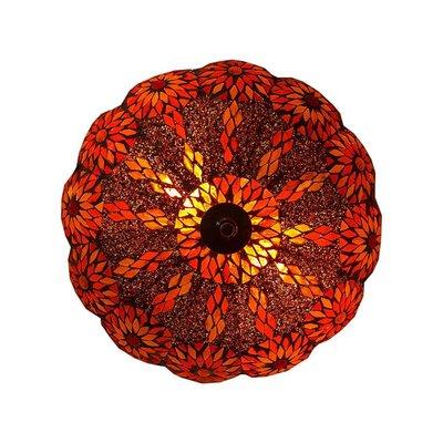 Plafonnière rood oranje bloem