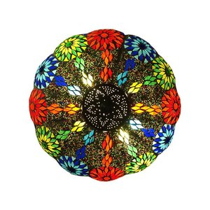Iron kleurrijke plafonnière bloem