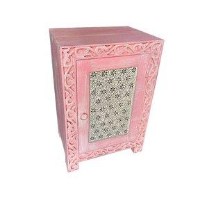 Bohemian roze nachtkastje