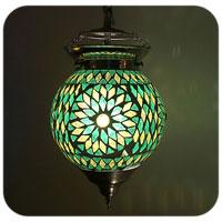 Bohemian style mozaiek lamp