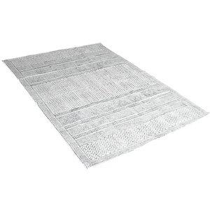 Vloerkleed grafisch grijs 120 x 180 cm
