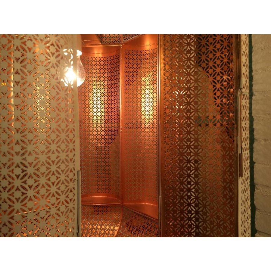 Oosterse lantaarn wit orientaal gouden binnenkant