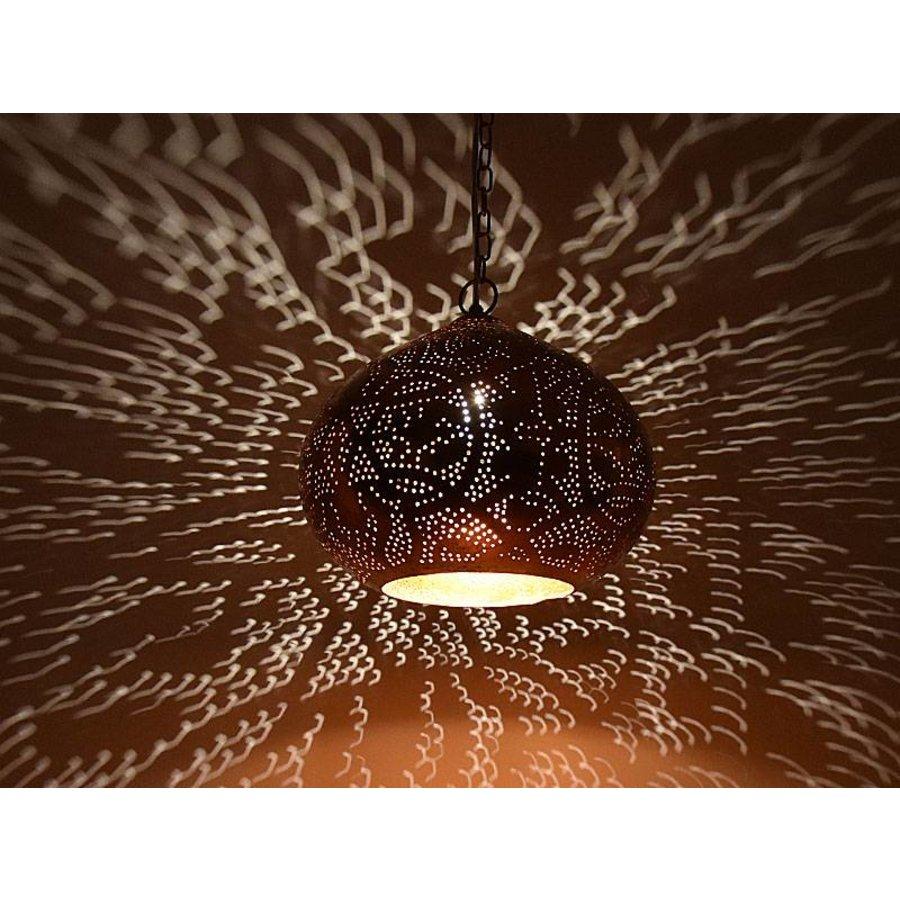 Koperen open hanglamp filigrain
