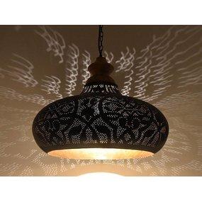 Hanglamp zwart met hout
