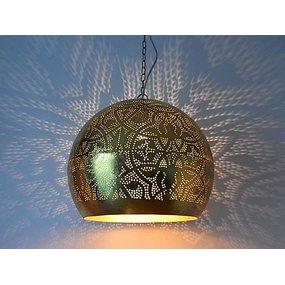 Gouden filigrain hanglamp