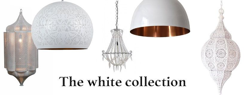 Witte oriëntaalse sfeerverlichting -The white collection