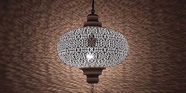 Witte gaatjes hanglamp
