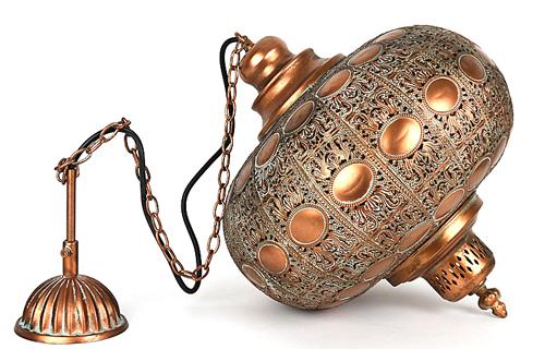 Mooi afdek kapje en totale filigrain lamp