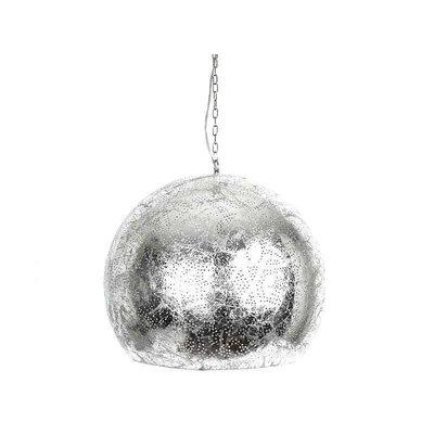 Zilveren grote filigrain hanglamp voor boven de eettafel