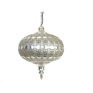 Zilveren hanglamp diamant met oosterse sfeer