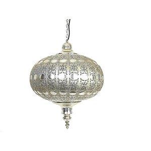 Zilveren hanglamp diamant
