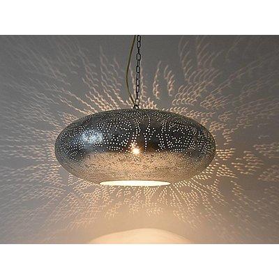 Open hanglamp zilver filigrain ufo