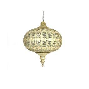 Bruin goud filigrain hanglamp