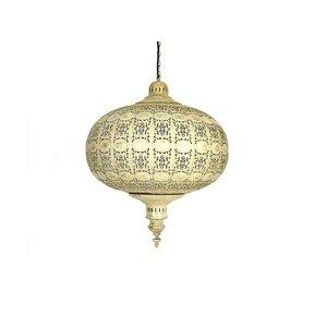 Bruin goud filigrain hanglamp rond
