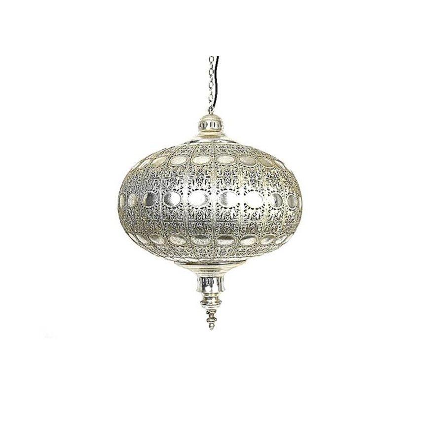 Hanglamp zilver sparkle filigrain
