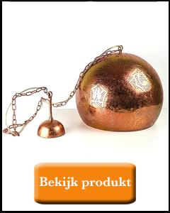 Koperen hanglamp bol vorm