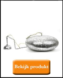 Zilveren ufo model openhanglamp