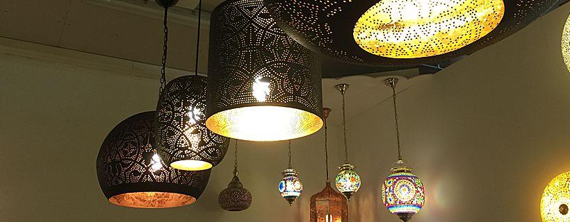 Oriëntaalse open eettafel hanglampen