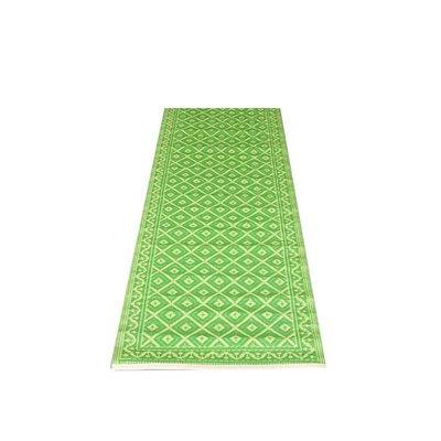 Balkonkleed groen wit grafisch