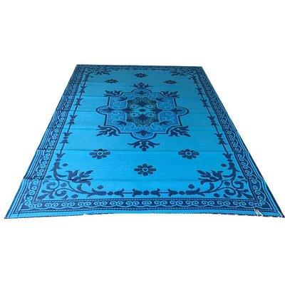 Buitenkleed oriental blauw