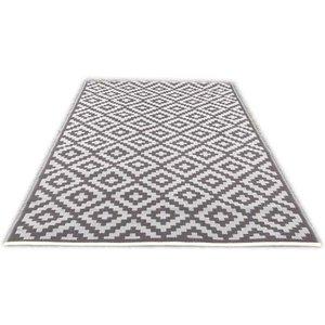 Buitenvloerkleed taupe en warm grijs design