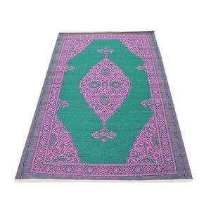 Tuintapijt groen roze arabisch design