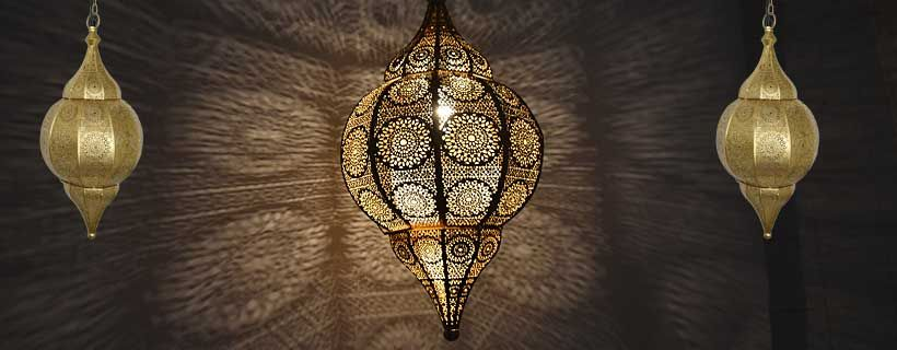 Gouden 1001nacht lamp met mooie lichteffecten