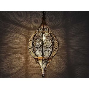 Gouden oosterse hanglamp filigrain