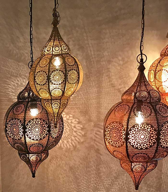 Gouden oosterse lampen in 1001nacht sfeer