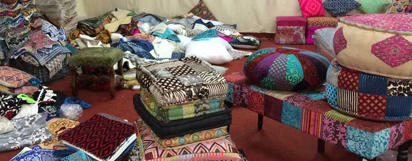 Patchwork kleurrijke bohemian style stoffen uit India